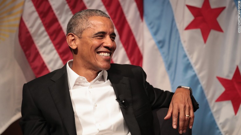 Obama's first post-White House public comments
