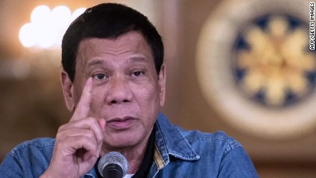 Ex-smoker Philippines President Duterte has banned smoking in public places.