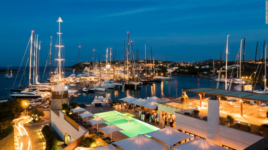 Porto Cervo in Sardinia is one of the world's most glamorous sailing locations. The Yacht Club Costa Smeralda hosts the Maxi Yacht Rolex Cup.