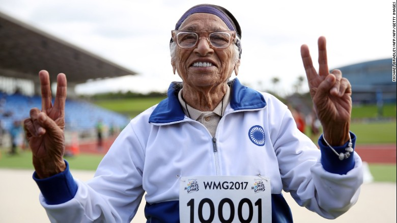 The 101-year-old 100 meter champion