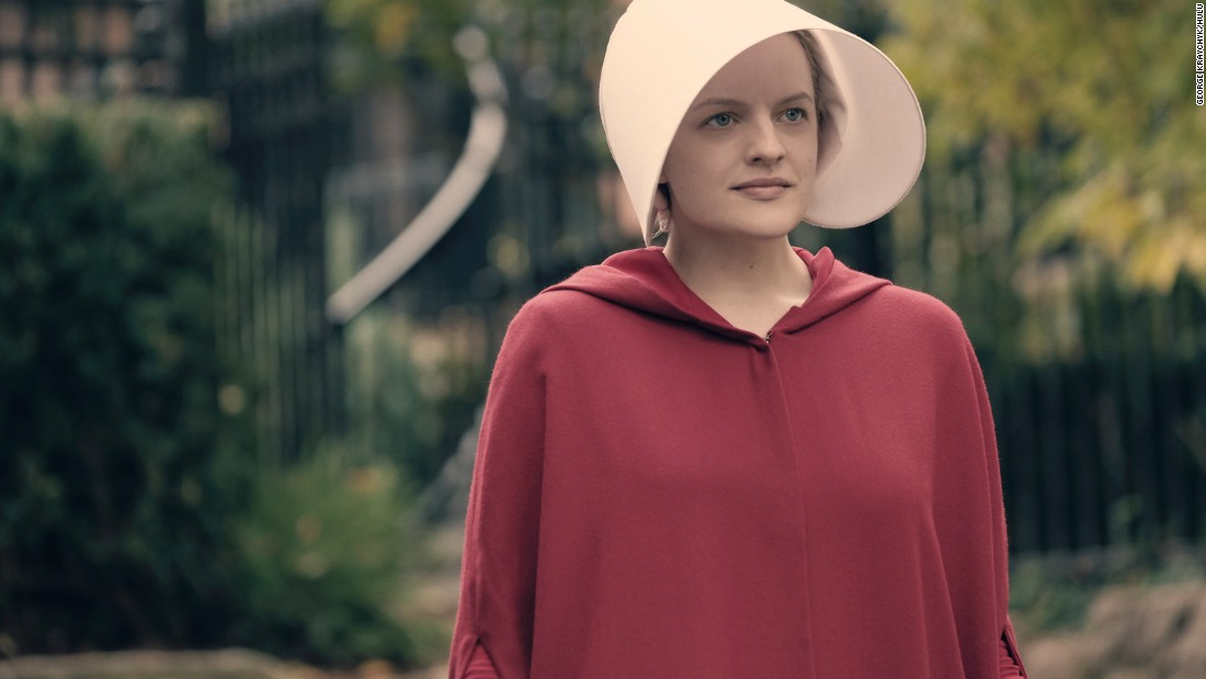 'The Handmaid's Tale' the dystopian Hulu drama scored star Elisabeth Moss a nomination, along with her fellow cast members.