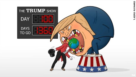 Trump's presidency: Cartoon views from around the world and at home
