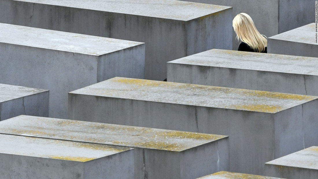 "Ivanka Trump, daughter and adviser to US President Donald Trump, visits the Holocaust Memorial in Berlin on Tuesday, April 25. Ivanka Trump <a href=""http://www.cnn.com/2017/04/25/politics/ivanka-trump-germany-hisses/"" target=""_blank"">was in Germany</a> to participate in a panel discussion on women's empowerment and entrepreneurship."