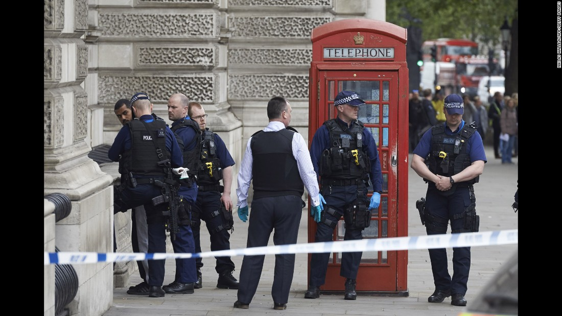 "Police in London <a href=""http://www.cnn.com/2017/04/27/europe/uk-whitehall-london-security-incident/"" target=""_blank"">detain a man,</a> left, who they say was carrying knives near Parliament on Thursday, April 27. A statement from Scotland Yard said a 27-year-old ""was arrested on suspicion of possession of an offensive weapon and on suspicion of the commission, preparation and instigation of acts of terrorism."" He was detained just a few meters from the scene of <a href=""http://www.cnn.com/2017/03/22/europe/gallery/uk-parliament-incident/index.html"" target=""_blank"">a deadly terror attack last month.</a>"