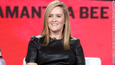 PASADENA, CA - JANUARY 14:  Executive producer/host Samantha Bee of 'Full Frontal with Samantha Bee' speaks onstage during the TBS portion of the 2017 Winter Television Critics Association Press Tour at the Langham Hotel on January 14, 2017 in Pasadena, California.  (Photo by Frederick M. Brown/Getty Images)
