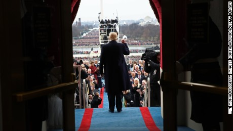 WASHINGTON, DC - JANUARY 20:  U.S. President-elect Donald Trump arrives on the West Front of the U.S. Capitol on January 20, 2017 in Washington, DC. In today's inauguration ceremony Donald J. Trump becomes the 45th president of the United States.  (Photo by Win McNamee/Getty Images)
