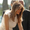 melania trump ribbon cutting 0428