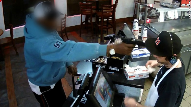 Jimmy John's cashier unfazed by robber
