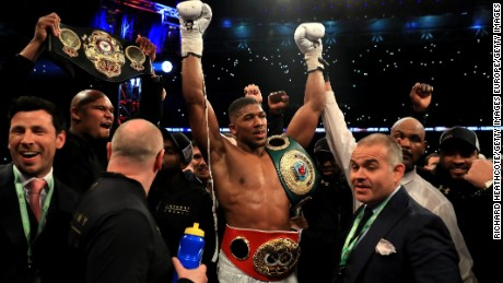 90,000 were at Wembley to watch Anthony Joshua's victory.