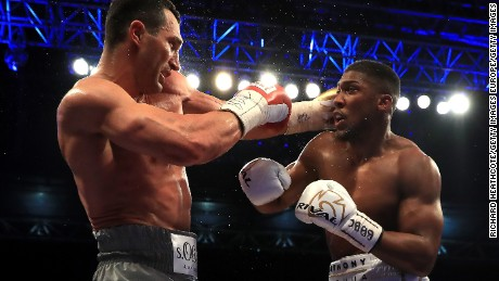 Joshua is 14 years younger than Klitschko but the Briton was severely tested by the Ukrainian.