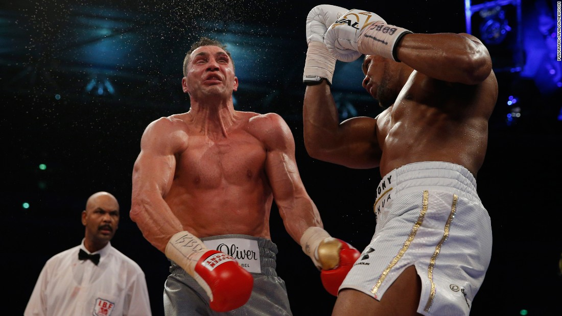 "Anthony Joshua uppercuts Wladimir Klitschko during their heavyweight title fight in London on Saturday, April 29. <a href=""http://www.cnn.com/2017/04/29/sport/anthony-joshua-wladimir-klitschko-world-heavyweight-title-fight/"" target=""_blank"">Joshua stopped Klitschko</a> in the 11th round, cementing his status as the world's premier heavyweight."