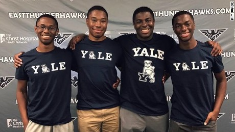The Wade quadruplets have decided to attend Yale.