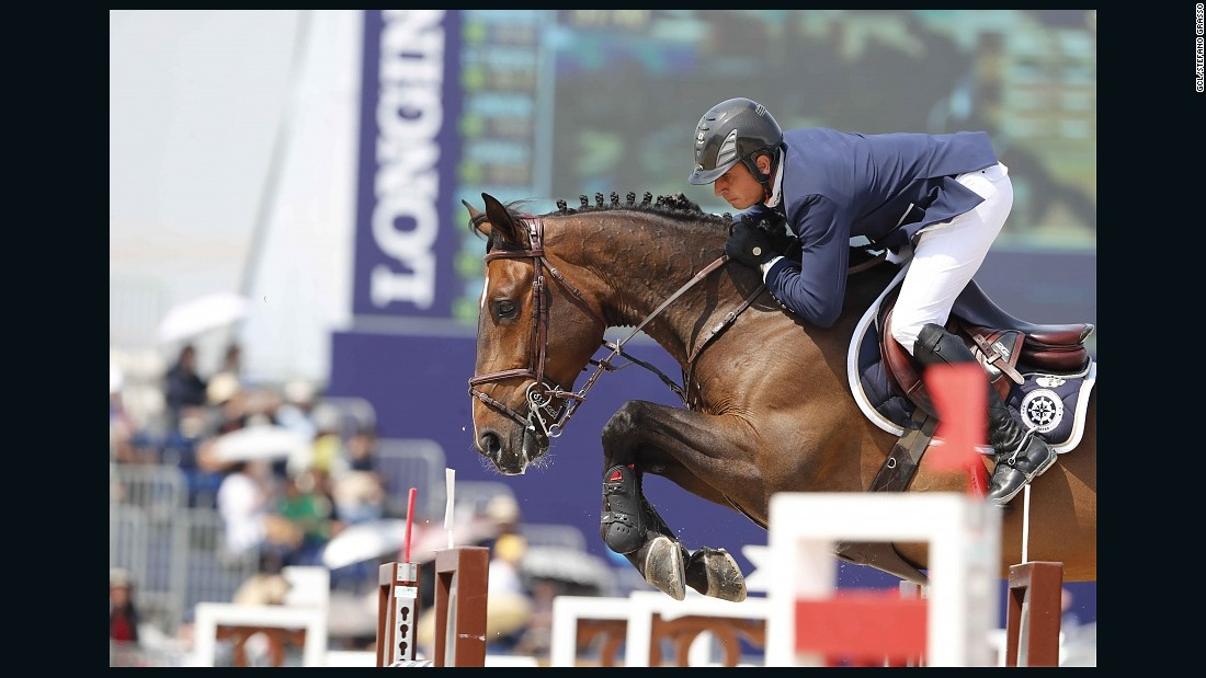 In the GCL, the St. Tropez Pirates were well-placed to take victory after Julien Epaillard's clear round (pictured). But an error-strewn performance from Simon Delestre saw the team plummet to eighth overall.