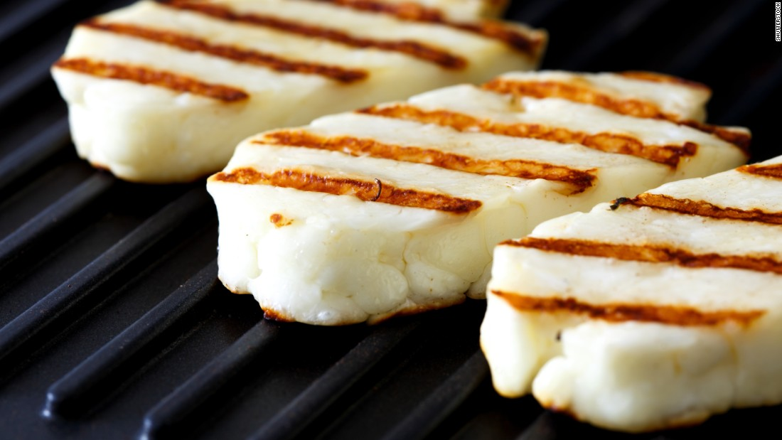 Slices of halloumi cheese can serve as a meat alternative at barbecues.