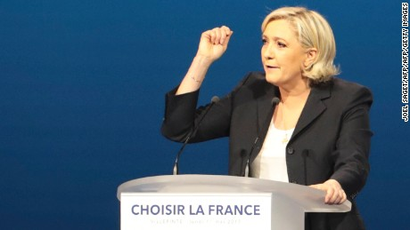 French election: Marine Le Pen caught up in plagiarism row
