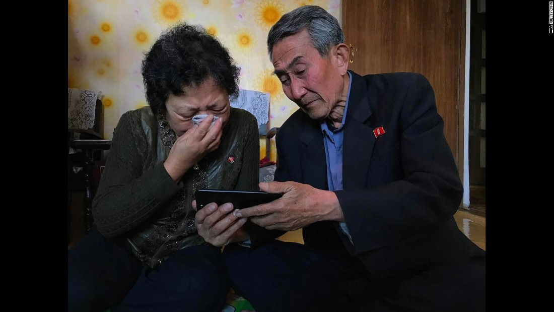 "The parents in North Korea of an inadvertent defector react to <a href=""http://edition.cnn.com/videos/world/2017/04/30/nk-family-divided-ripley-pkg.cnn"" target=""_blank"">a video message</a>, shared by CNN's Will Ripley, from their daughter, who lives in South Korea and cannot return home. The family hasn't been together in years."