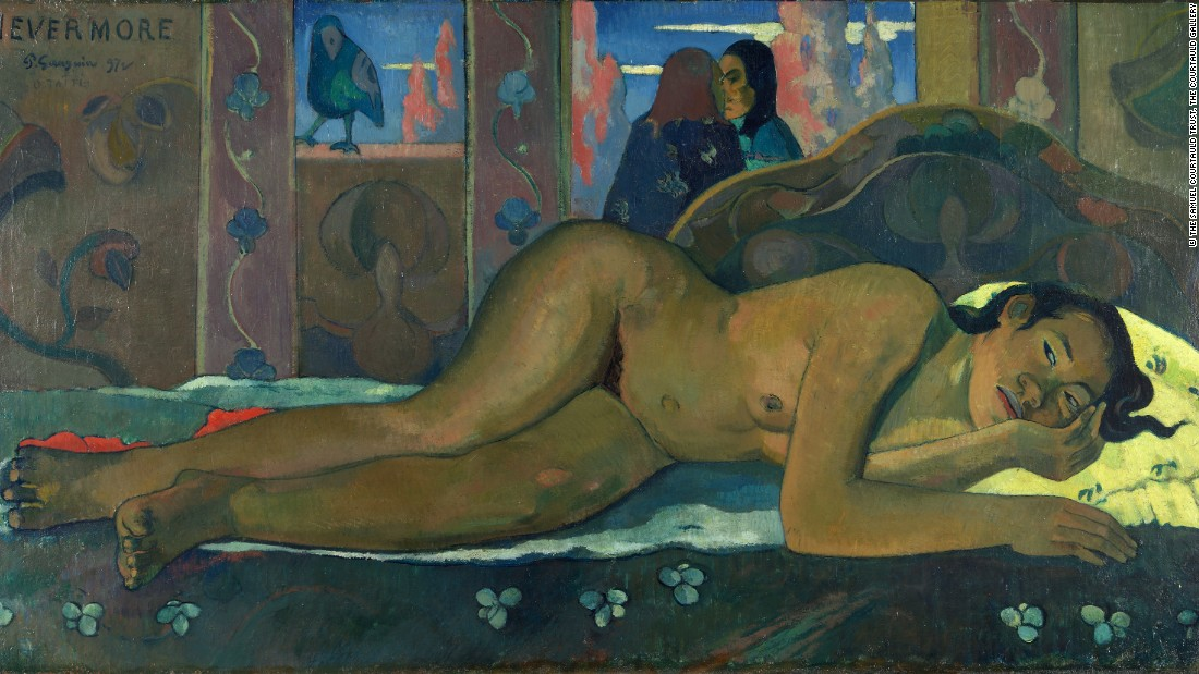 Nevermore, by Paul Gauguin. Courtesy The Samuel Courtauld Trust.