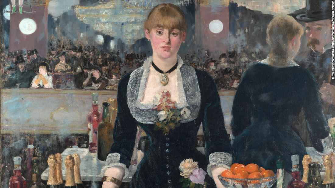 A Bar at the Folies-Bergère, by Édouard Manet. Courtesy The Samuel Courtauld Trust.