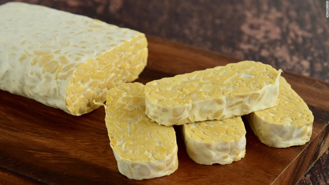Tempeh is a traditional Indonesian product made from fermented soy.