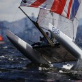 Clive Mason photography Ben Saxton and Nicola Groves of Great Britain Nacra 17 Mixed class