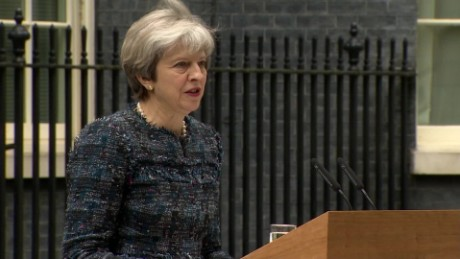 Speaking outside 10 Downing Street, British Prime Minister Theresa May has accused European Union officials of deliberately leaking misleading accounts of Brexit talks to affect the outcome of the UK election.