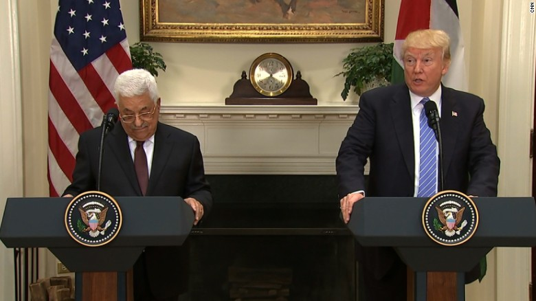 Trump: Israelis and Palenstinians need peace