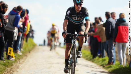 ROUBAIX, FRANCE - APRIL 10:  Gianni Moscon of Italy and Team SKY in action during the 2016 Paris- Roubaix from Compiegne to Roubaix on April 10, 2016 in Paris, France. The 114th edition race will be held over 257km and 27 sectuers of cobbles.  (Photo by Bryn Lennon/Getty Images)