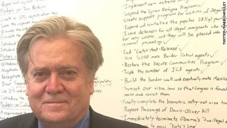 How Steve Bannon's whiteboard explains Donald Trump's climate decision