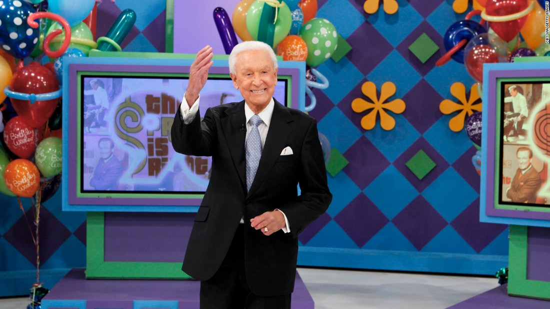 "<strong>Bob Barker, born 1923:</strong> Barker presented the longest-running game show in television history, ""The Price is Right."" He was honored with a week of shows in December 2013 to celebrate his 90th birthday."