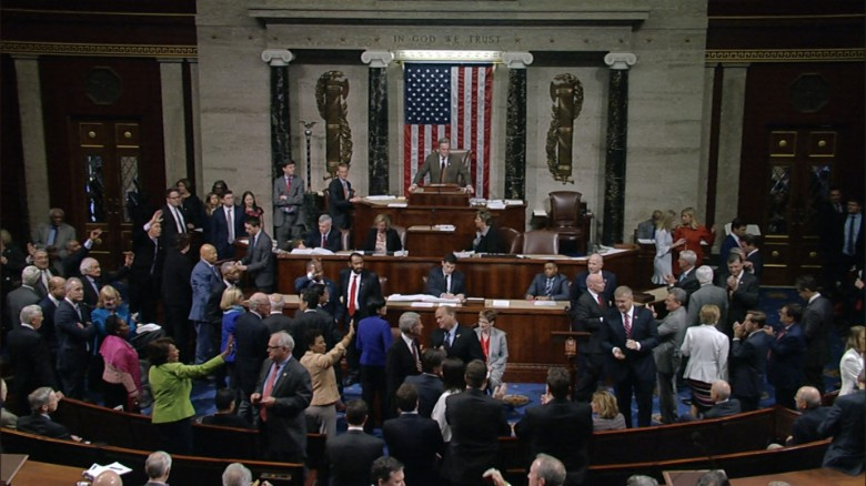 Democrats sing Na na goodbye house floor ahca mobile_00000000