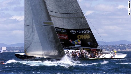Team New Zealand beat Italy's Prada 5-0 in the 2000 America's Cup in Auckland.