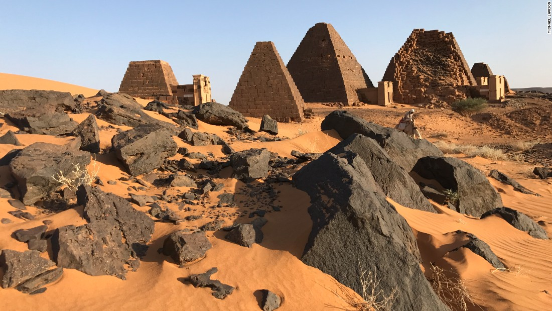More than 200 pyramids are believe to be located in Sudan. About 177 are located in the Island of Meroe, while the other 74 are in the Nuri region.