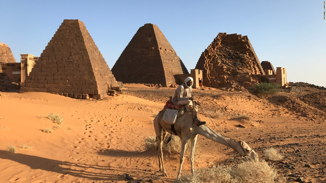 In Sudan's Nile Valley there is a series of ancient tombs and pyramids that are rarely visited by tourists.