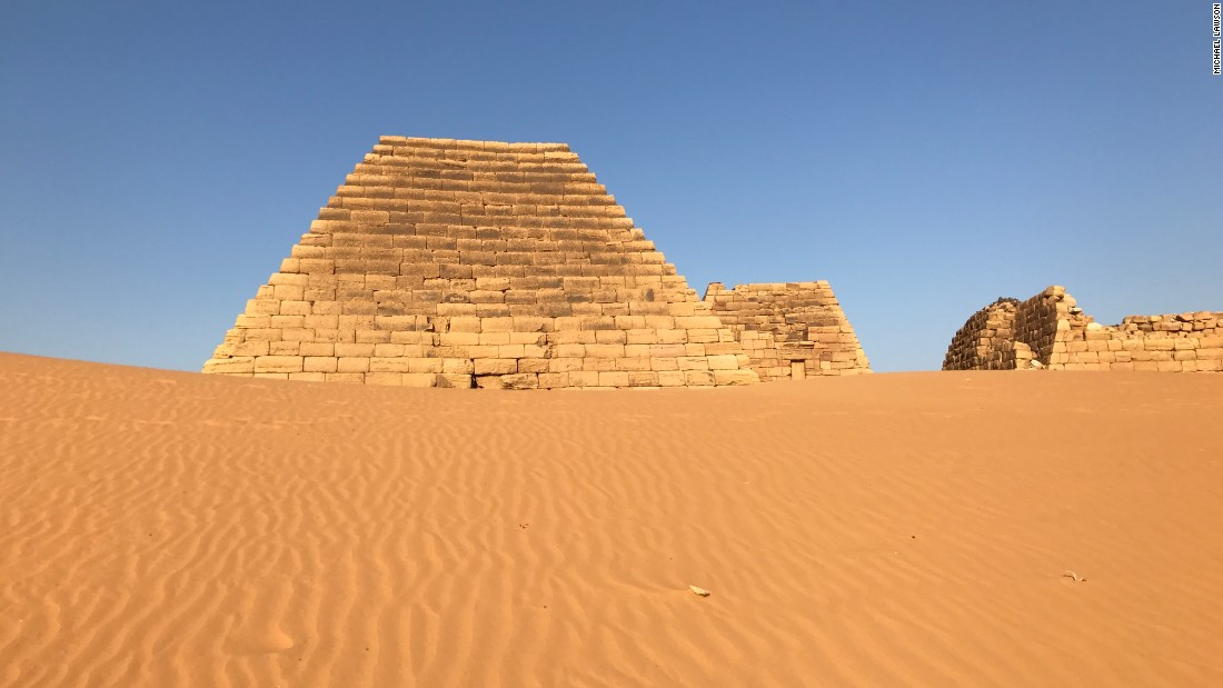 The Sudan pyramids are smaller than those in Egypt. They are also far less busy, typically receiving about 10 visitors per day. <br />