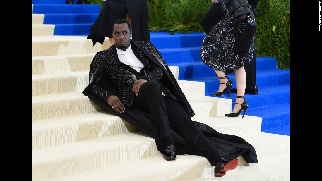 "Music mogul Sean ""Diddy"" Combs attends the annual Met Gala at New York's Metropolitan Museum of Art on Monday, May 1. <a href=""http://www.cnn.com/2017/04/28/fashion/met-gala-2017-red-carpet-history/"" target=""_blank"">See more celebrity fashion from the event</a>"