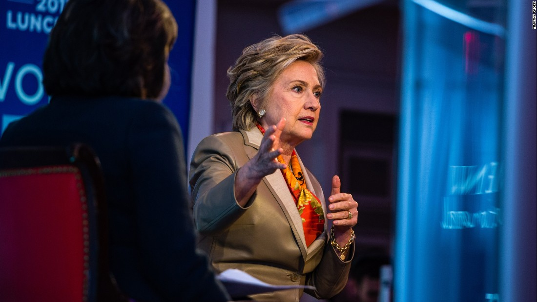 "Hillary Clinton speaks with CNN's Christiane Amanpour during a sit-down interview in New York on Tuesday, May 2. During the interview, which was part of an event for the nonprofit group Women for Women International, Clinton <a href=""http://www.cnn.com/2017/05/02/politics/hillary-clinton-donald-trump/"" target=""_blank"">touched on many topics,</a> including misogyny, President Donald Trump, the media and Russian interference in the 2016 election."