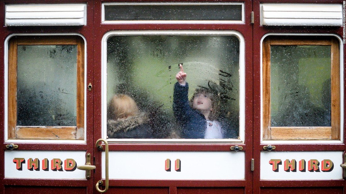 "Sophie Wilson, 4, draws on a train window in Devon, England, on Sunday, April 30. <a href=""http://www.cnn.com/2017/04/27/world/gallery/week-in-photos-0428/index.html"" target=""_blank"">See last week in 29 photos</a>"