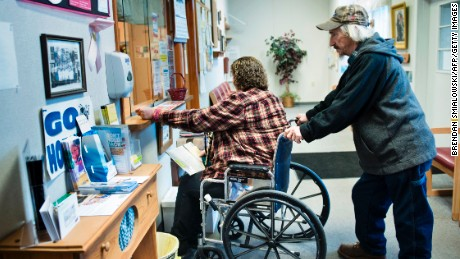 A patient checks in at the Community Health Center of NE Wetzel County on March 22, 2017 in Burton, West Virginia. The Republican-controlled House of Representatives votes Thursday on a key plank of Trump's legislative agenda -- his plan to repeal and replace Obamacare, his predecessor's crowning domestic policy achievement.