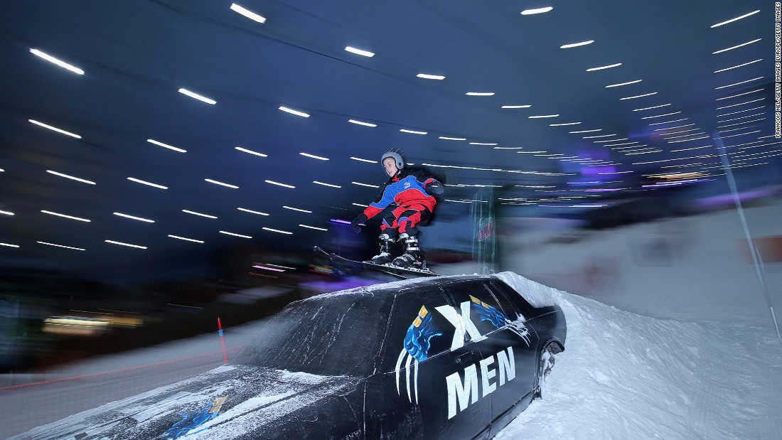Escape the desert heat at Ski Dubai, the Middle East's first indoor ski resort. At 24 degrees Fahrenheit, glide down snow-laden slopes and attempt to jump a 10 feet ramp.