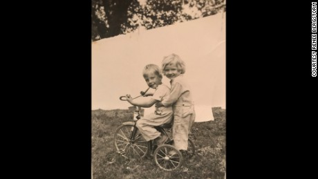 Renee Bergstrom, with her brother, around the time in 1947 that she was subjected to FGM at age 3.