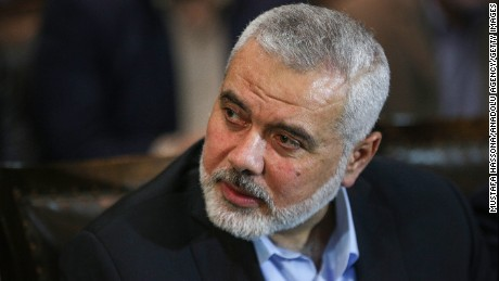 Deputy Head of Political Bureau of Hamas, Ismail Haniyeh attends the meeting of the Hamas officials in Doha, Qatar on March 1.