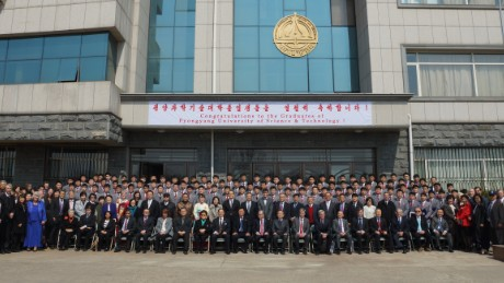A graduation image taken in March 2017 from the Pyongyang University of Science and Technology.