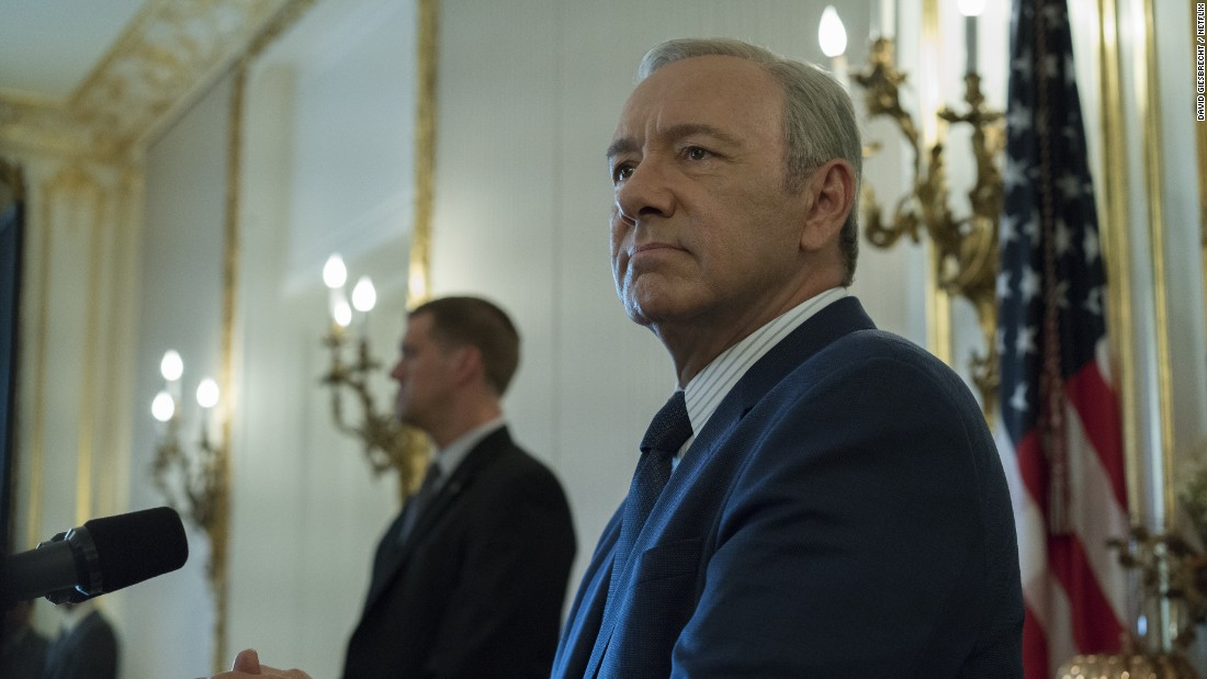 Kevin Spacey in 'House of Cards.' The Netflix political drama can celebrate its six Emmy nominations, including a nod for outstanding drama.