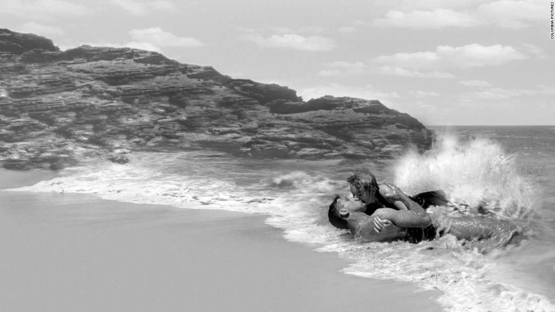 "In the 1953 classic ""From Here to Eternity,"" 1st Sgt. Milton Warden (Burt Lancaster) and his mistress, Karen (Deborah Kerr), declare their love for one another on the beach of Oahu, Hawaii."