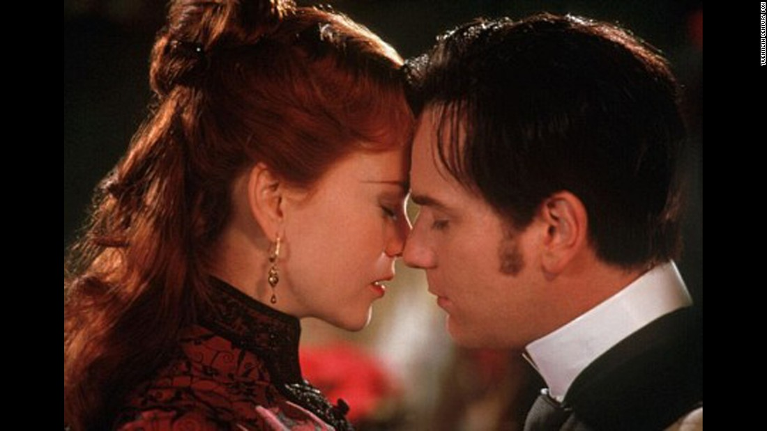 "The 2001 musical ""Moulin Rouge"" showcases the star-crossed love between a dancer and courtesan, played by Nicole Kidman, and an aspiring writer, played by Ewan McGregor."