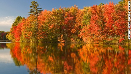 Colorful places Maine Fall Foliagesm