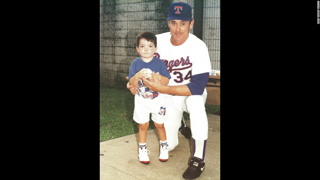 Ryan with his favorite baseball player, Nolan Ryan.