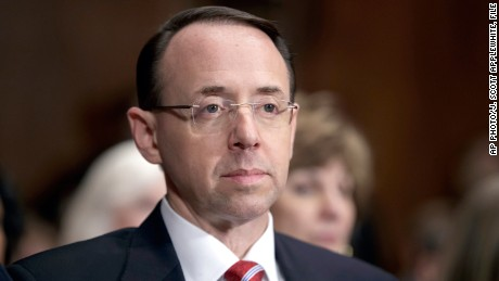 Rosenstein unhappy with White House handling of Comey firing: sources