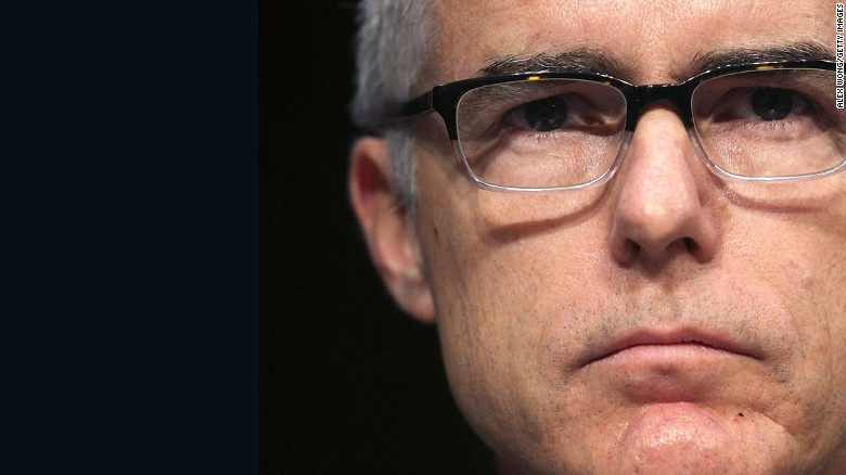 Federal Bureau of Investigation  deputy director McCabe to retire in 2018
