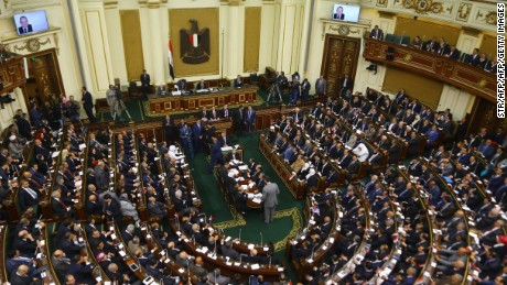 The Egyptian parliament is considering new social media restrictions.